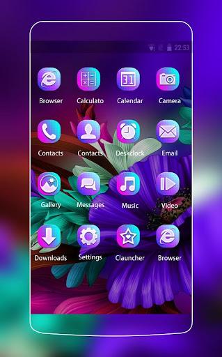 themes app for  s6 purple bloom flower screenshot 2