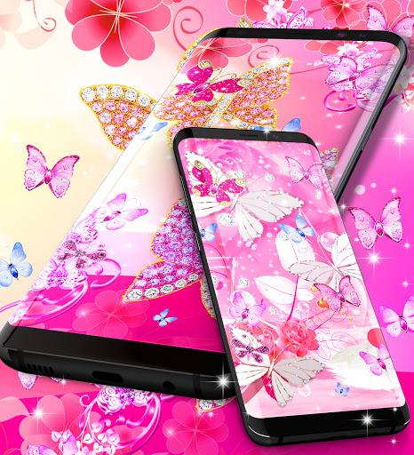 Diamond butterfly pink live wallpaper apktram screenshots 8