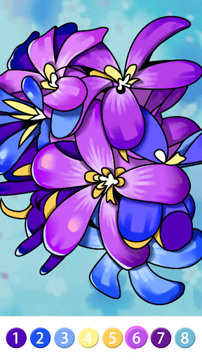 Coloring Book: Color by Number Oil Painting Games apkpoly screenshots 4