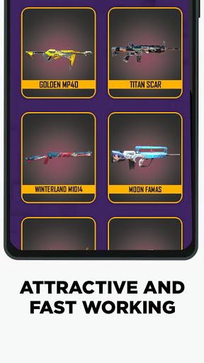 FFF: FF Skin Tool, Elite pass Bundles, Emote, skin android2mod screenshots 4