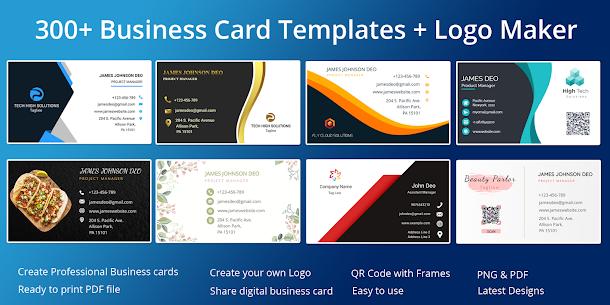 Business Card Maker Free Visiting Card Maker photo (MOD, Pro) v8.3 1