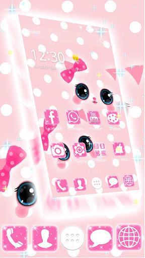 Pink kawaii Princess Kitty Theme  screenshots 7