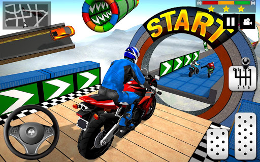 Impossible Stunts Bike Racing Games 2018: Sky Road 1.6 screenshots 8