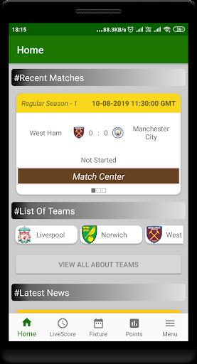 premier league livescore of en football screenshot 1