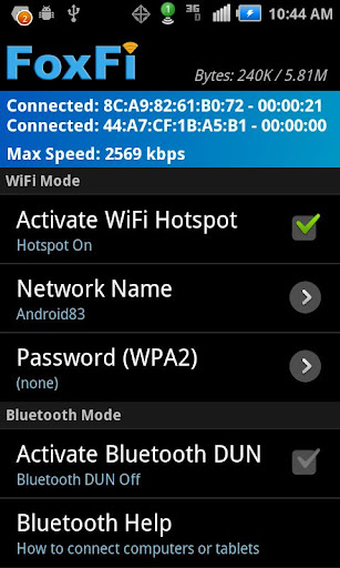 FoxFi (WiFi Tether w/o Root) 2.20 Screenshots 2