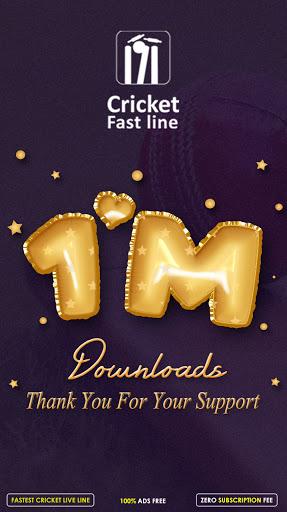 Cricket Fast Line - Fast Cricket Live Line  Screenshots 1