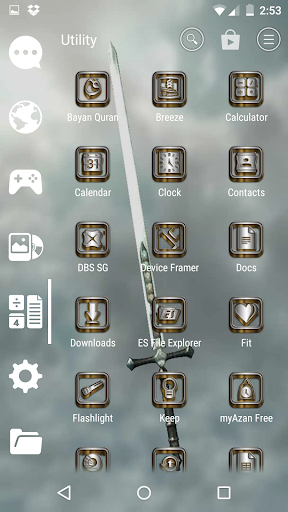 SilverGold 3D Icon CM&Launcher For PC Windows (7, 8, 10, 10X) & Mac Computer Image Number- 12
