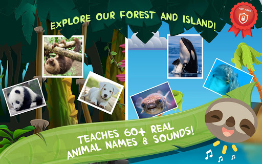 ud83dudc36 Baby animals ud83cudfb6 Addfree animal sounds for kids screenshots 1