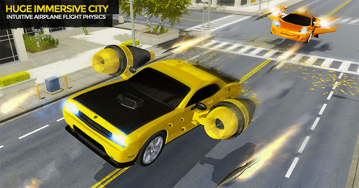 Flying Car Shooting Game: Modern Car Games 2021  Screenshots 11