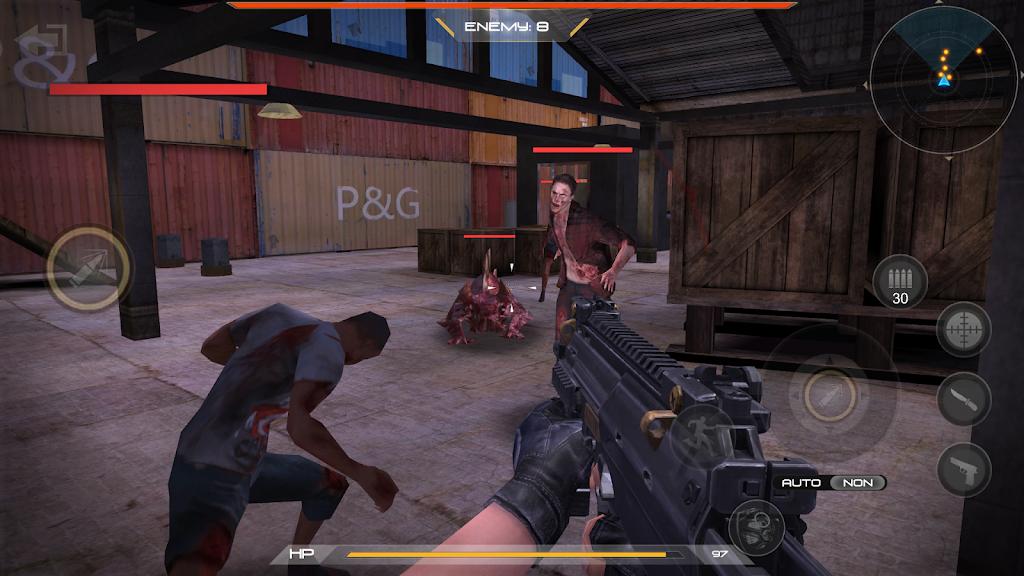 zombie comando shooting:offline fps military-games  poster 13