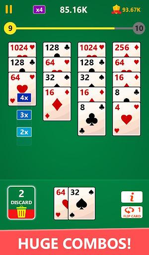 Code Triche 2048 Solitaire Card Game - 2048 Zen Cards (Astuce) APK MOD screenshots 4