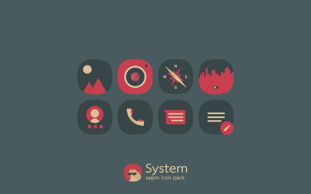Sagon Icon Pack: Dark UI  poster 3