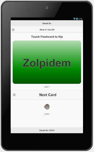 top 200 pharmacy drugs flashcards screenshot 1