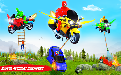 Superhero Flying Bike Taxi Driving Simulator Games 11 Screenshots 14