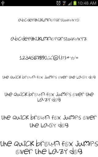 fonts hand for flipfont® free screenshot 3
