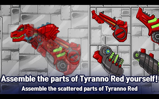 T-Rex Red - Combine! Dino Robot : Dinosaur games 2.1.9 screenshots 7