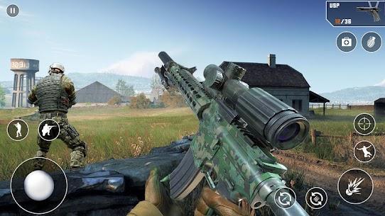 Anti-Terrorist FPS Shooting Mission:Gun Strike War Mod Apk (God Mode) 7