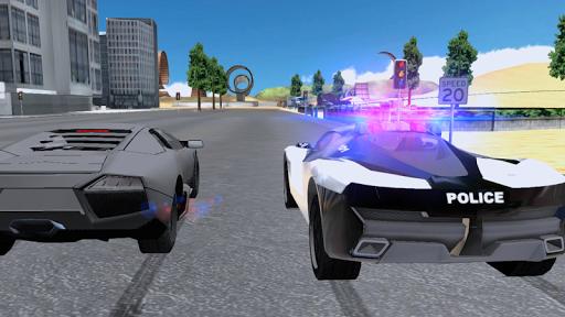 police chase car drifting screenshot 2