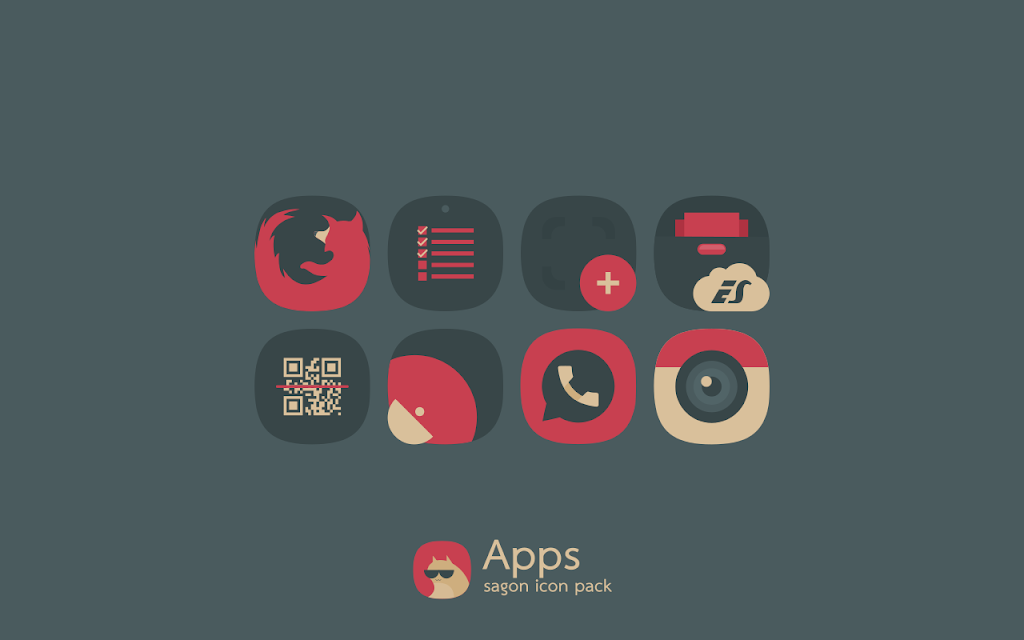 Sagon Icon Pack: Dark UI  poster 4