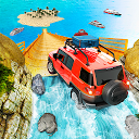 Mega Ramp Jeep Stunts - Offroad Beach Racer