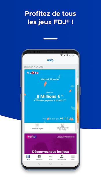FDJ® – Loto, Euromillions, Keno, Jeux et résultats Android App Screenshot