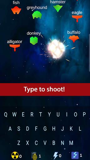 Space Typer: Typing Game apklade screenshots 1
