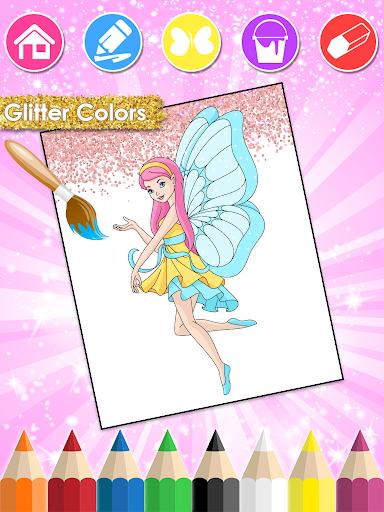 Princess Coloring Book Glitter & Girls Dress Up 1.8.6 screenshots 2