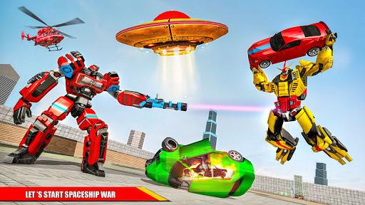 Space Robot Transport Games - Lion Robot Car Game screenshots 4