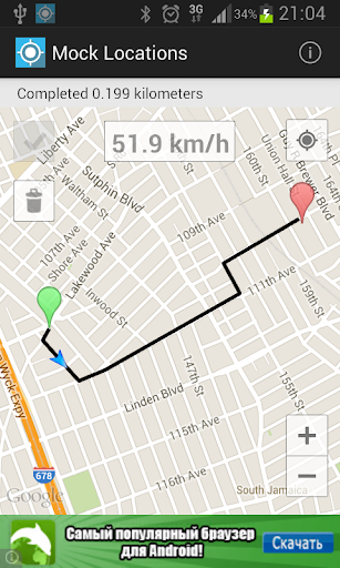 Mock Locations (fake GPS path) modiapk screenshots 1