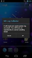 screenshot of MX Log Collector
