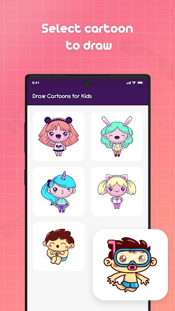 Captura 3 de Learn to Draw Cartoons - Step by Step para android
