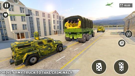 Army Prisoner Transport: Truck & Plane Crime Games 2