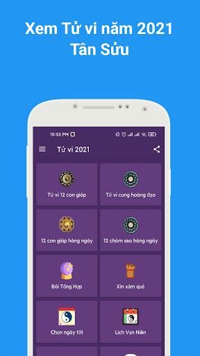 Tu1eed vi 2021 - Xem tu vi hang ngay , xem boi tarot android2mod screenshots 1
