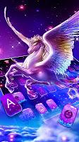 screenshot of Dreamy Wing Unicorn Keyboard Theme