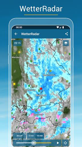 RegenRadar - Vorhersagen & live Wetterradar  screenshots 4