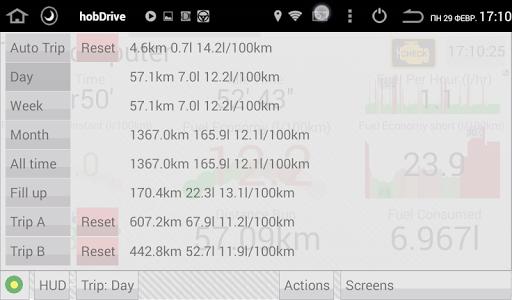 HobDrive OBD2 ELM327, car diagnostics, trip comp 1.6.12 Screenshots 14