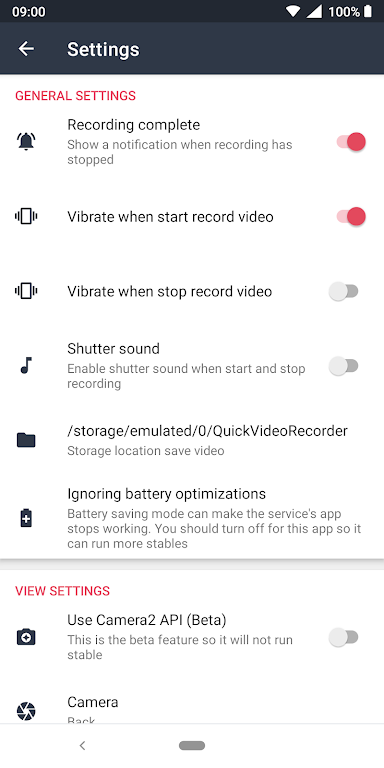Quick Video Recorder - Background Video Recorder  poster 5