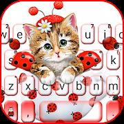 Cute Ladybird Kitten Keyboard Theme