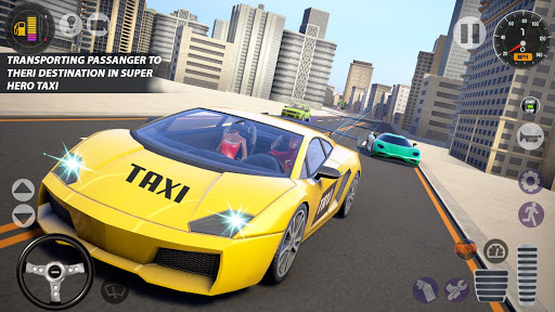 Superhero Taxi Car Driving Simulator - Taxi Games 1.0.2 Screenshots 9