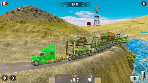 Off-Road Army Vehicle Transporter Truck  screenshots 8