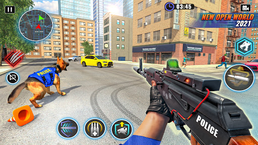 US Police Dog Bank Robbery Crime Shooting Game apkdebit screenshots 6