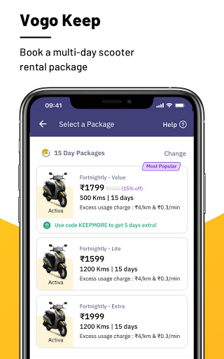 VOGO -Scooter & Bike Rental App | Rent.Ride.Return modavailable screenshots 3