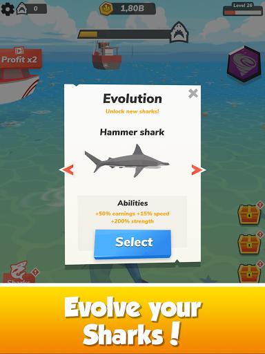Idle Shark World: Hungry Monster Evolution Game screenshots 14