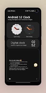 Android 12 Clock Mod Apk v1.7 1