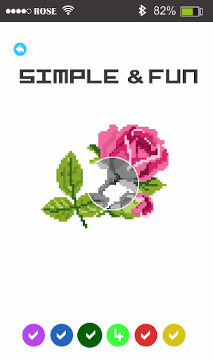 Rose Flowers Pixel Art - Paint By Number 1.5 screenshots 2