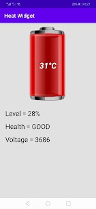 Battery Temperature Widget 3