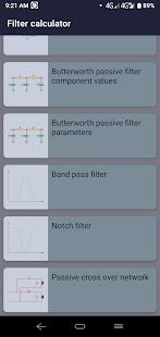 Filter calculator - RC RL RLC & active filter