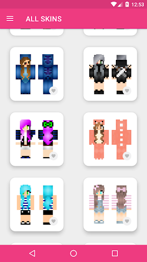 Girls Skins for Minecraft PE 3.4.3 Screenshots 11