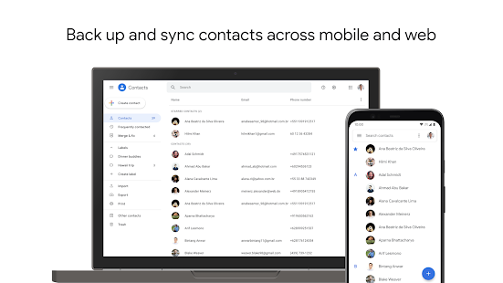 Contacts Screenshot