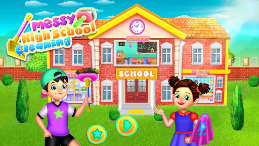Messy High School Cleaning: Girl Room Cleanup Game screenshots 1